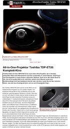 Test Toshiba TDP-ET20 All-in-One-Projektor