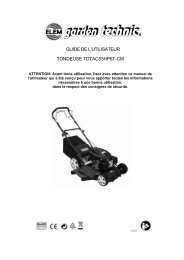 GUIDE DE L'UTILISATEUR TONDEUSE TDTAC53HP6T-CM