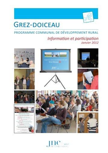PCDR Grez-Doiceau - 2 - Information et participation. 4.5 - Grez en ...