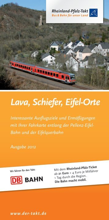 Lava, Schiefer, Eifel-Orte - Rheinland-Pfalz-Takt