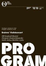 Brahms' Violinkoncert DR SymfoniOrkestret Dirigent: Dmitrij ...
