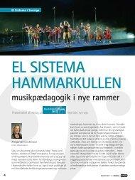 EL SISTEMA HAMMARKULLEN - musikpædagogik i nye rammer