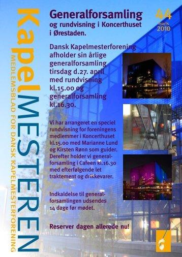 Generalforsamling - Dansk Kapelmesterforening