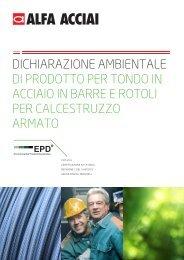 DICHIARAZIONE AMBIENTALE DI PRODOTTO PER TONDO IN ...
