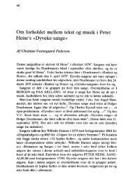 Om forholdet mellem tekst og musik i Peter Heise's »Dyveke-sange«