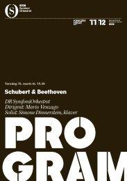 Schubert & Beethoven DR SymfoniOrkestret Dirigent: Mario ...