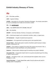 Exhibit Industry Glossary of Terms Aa - Exhibition Services ...