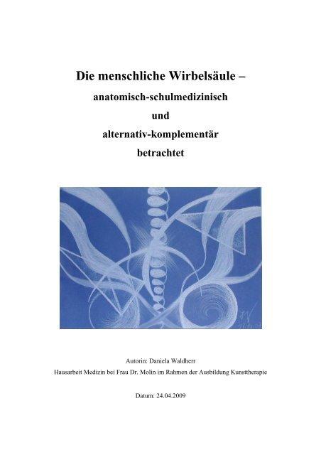 Hausarbeit Die Wirbelsäule Daniela Waldherr