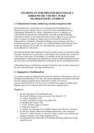STUDIEPLAN FOR DIPLOMUDDANNELSE I ... - musikkons.dk
