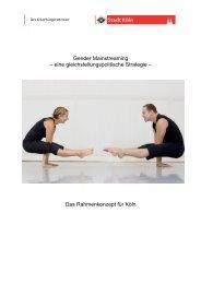 Gender Mainstreaming – eine gleichstellungspolitische ... - Stadt Köln