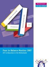 Four in Balance Monitor 2007 - downloads.kennisn... - Kennisnet