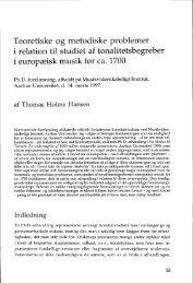 Teoretiske og metodiske problemer i relation til studiet af ...