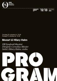 Mozart & Hilary Hahn DR SymfoniOrkestret Dirigent: Cornelius ...