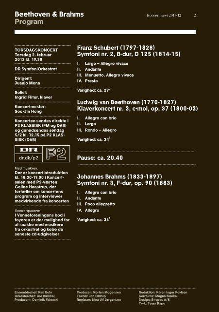 """""""Beethoven & Brahms""""-programmet - DR"""