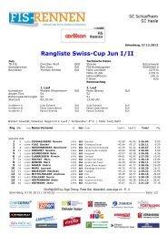 Rangliste (311 KB) - Swiss-Ski