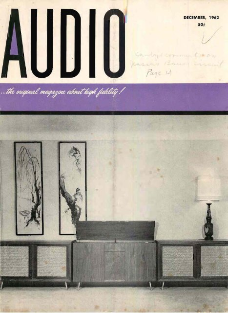 AUDIO MAGAZINE DECEMBER 1962 - Vintage Vacuum Audio