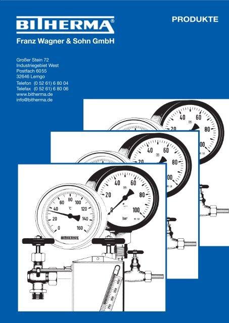 Katalogteil Manometer - Bitherma - Franz Wagner & Sohn GmbH