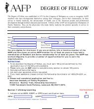2013 Degree of Fellow Application - American Academy of Family ...