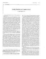 Family Medicine as Counterculture - American Academy of Family ...