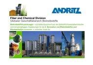 Fiber and Chemical Division Globaler Geschäftsbereich Biotreibstoffe