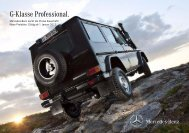 G-Klasse Professional. - Mercedes-Benz Schweiz