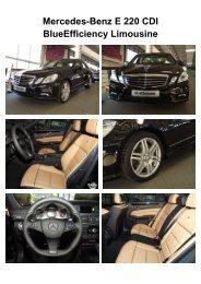 Mercedes-Benz E 220 CDI BlueEfficiency Limousine