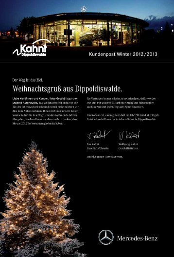 Kundenpost Winter 2012/2013