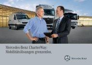 Mercedes-Benz CharterWay: Mobilitätslösungen grenzenlos.