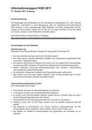 Zusammenfassung Informationsrapport KSD 2011 - admin.ch