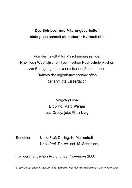rwth aachen dissertation