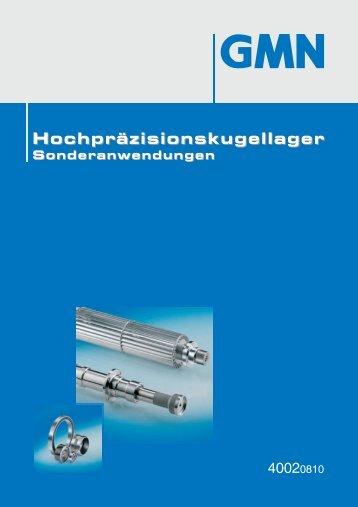 Katalog Hochpräzisionskugellager Sonderanwendungen Ausgabe ...