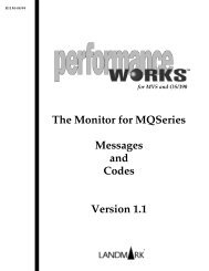 The Monitor for MQSeries 1.1 Messages and Codes