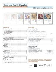 AFP Display Advertising Rate Card 2013 - American Academy of ...
