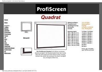 ProfiScreen Quadrat - Leinwände der Spitzenklasse - Beamer