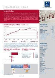 C-QUADRAT Active Bond Fondsbeschreibung