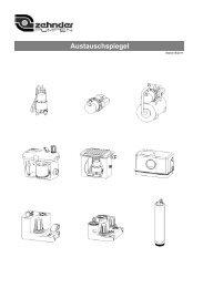 Austauschspiegel - Zehnder-Pumpen