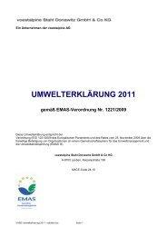 Umwelterklärung 2011 der voestalpine Stahl Donawitz