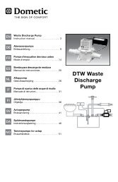 600346027 DTW Dometic discharge pump manual - Waeco