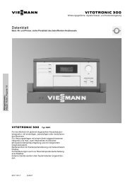 Datenblatt Vitotronic 300 - Viessmann