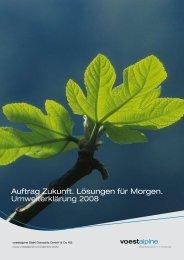 Umwelterklärung 2008 [1.3 MByte/pdf] - voestalpine