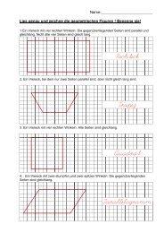 Rechteck Trapez Quadrat Parallelogramm - Prepolino.ch
