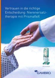 therapie mit PrismafleX - Gambro