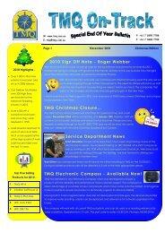 2010 Sign Off Note - Roger Webber TMQ ... - TMQ Electronics