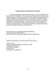 Vegetation Measurement Methods Comparison - CEMML ...