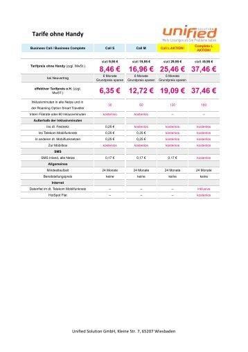 Premium RV TMR 03 Zusammenfassung.xlsx - Unified Solution GmbH