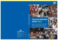 IOM Thailand Migration Report 2011 - United Nations in Thailand