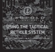 USING THE TACTICAL RETICLE SYSTEM - Leupold