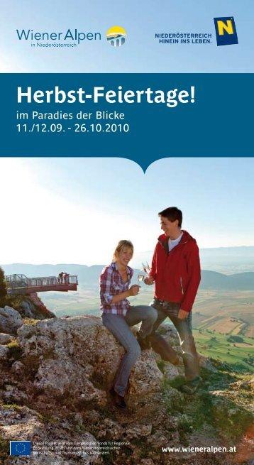 Herbst-Feiertage! - Wiener Alpen
