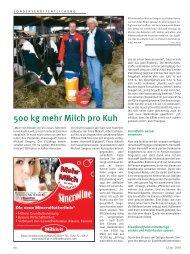 500 kg mehr Milch pro Kuh. LZ Rheinland - Alltech