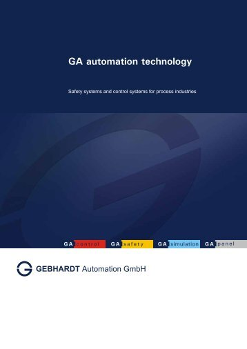 GA automation technology Rev01 en - GEBHARDT Automation GmbH